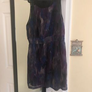 Multi color dress sheer back